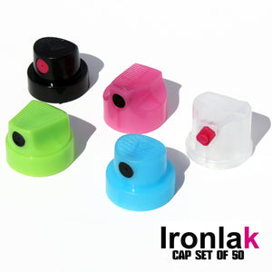 Ironlak Professional Spray Paint Nozzle Set of 50 Caps - InfamyArt - 1
