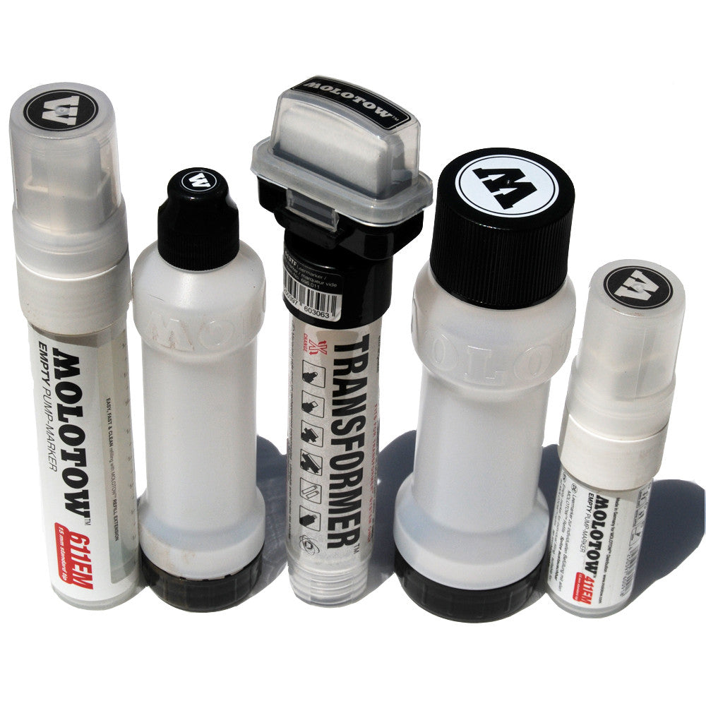 Molotow Premium Empty Refillable Marker Set of 5 - InfamyArt - 1