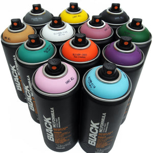 Montana BLACK 400ml Spray Paint 12 Pack - Alternative Colors - InfamyArt - 1