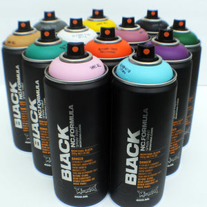 Montana BLACK 400ml Spray Paint 12 Pack - Alternative Colors - InfamyArt - 2