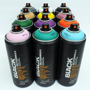 Montana BLACK 400ml Spray Paint 12 Pack - Alternative Colors - InfamyArt - 3