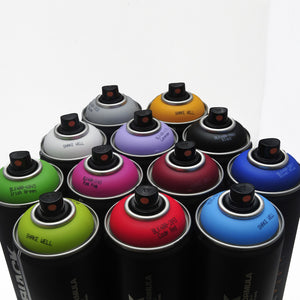Montana BLACK 400ml Spray Paint 12 Pack - Popular Colors - InfamyArt - 3