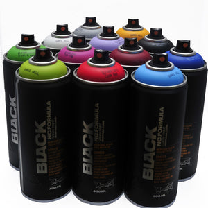 Montana BLACK 400ml Spray Paint 12 Pack - Popular Colors - InfamyArt - 2