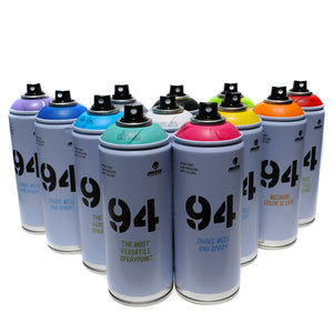 MTN 94 Spray Paint 400ml Set of 12 Popular Colors