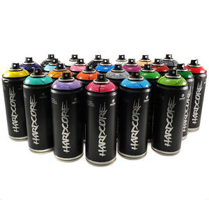 MTN Hardcore 2 - Spray Paint Set of 24 - Complete Artist Kit