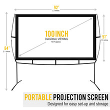 Load image into Gallery viewer, Portable Screen Projector Easy Assembly