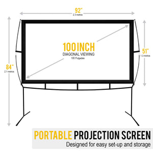 Portable Screen Projector Easy Assembly