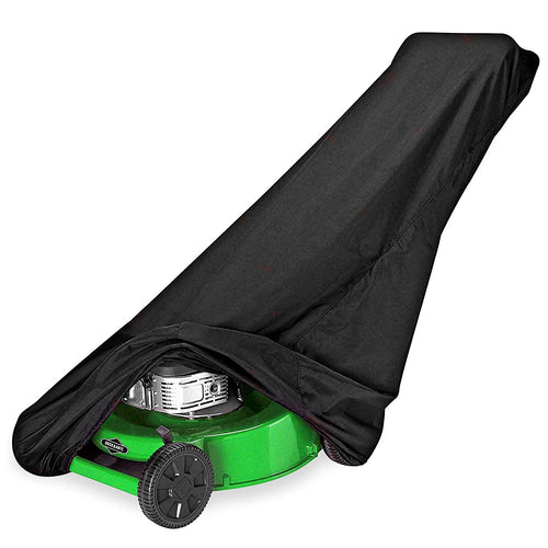 Lawn Mower Cover Waterproof Heavy Duty Outdoor Protector  - Black