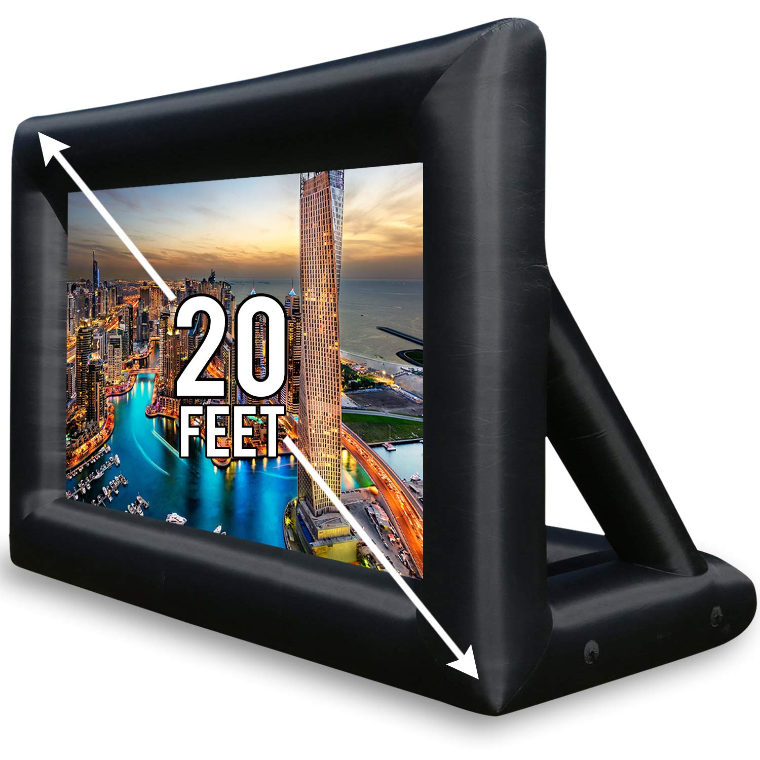 Jumbo Inflatable Screen Projector - 20 Feet