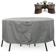 Load image into Gallery viewer, Round Patio Table & Chair Set Cover Durable & Water Resistant Outdoor Furniture Cover