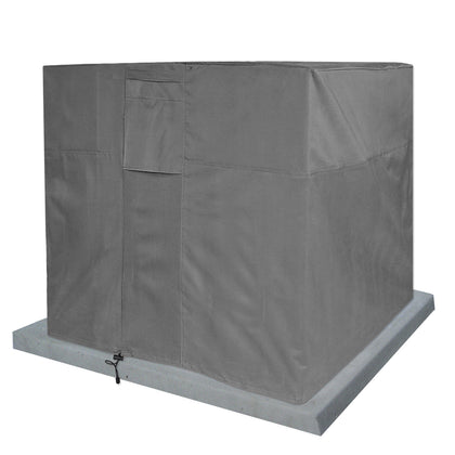 Air Conditioner Cover Square AC Outdoor Protector Gray