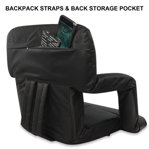 Seat for USED Stadium KHOMO GEAR Backpack Recliner and Armrests Black
