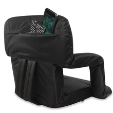 Load image into Gallery viewer, Stadium Bleacher Seat Bench Chair with Padded Reclining Cushion  - Black