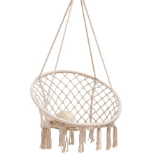 Load image into Gallery viewer, Macrame Chair Hammock Seat Swing