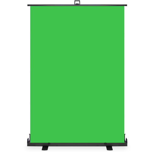 Green Screen Collapsible Pull-Up Extra Large Streaming Portable Backdrop Setup with Auto-Locking Frame