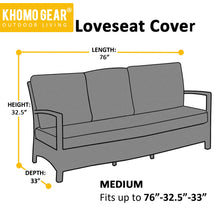 Load image into Gallery viewer, Love-Seat Cover Lounge Waterproof Outdoor Sofa Patio Black