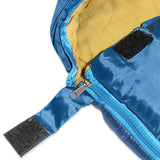 Sleeping Bag For Hiking Camping & Outdoor Activities - Compression Bag Included - Blue