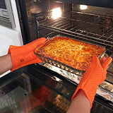 Pair Of Heat Resistant Gloves Oven / Kitchen / BBQ Grill - Grey