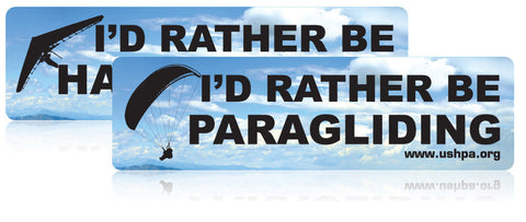 "USHPA ""I'd Rather Be..."" Bumper Sticker"