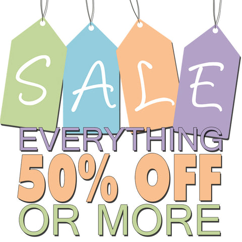CLEARANCE SALE! (50% OFF or MORE)