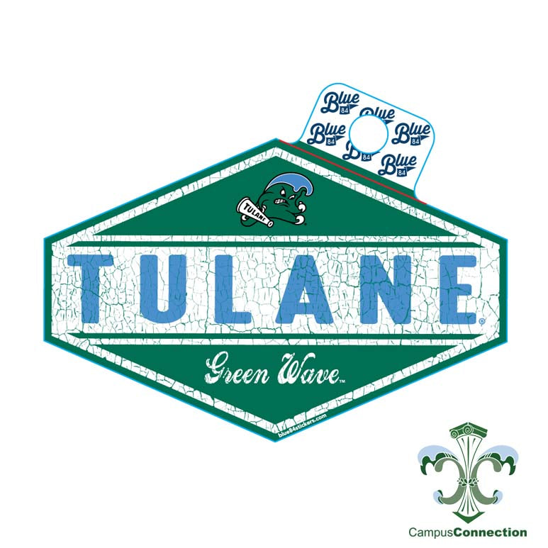 Tulane Oil Burner Decal
