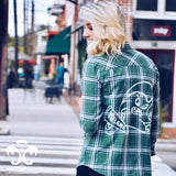 Tulane Angry Wave Spirit Jersey Flannel Shirt