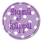 Sorority Round Decal Sticker - Alexandra and Co. - Campus Connection - 14