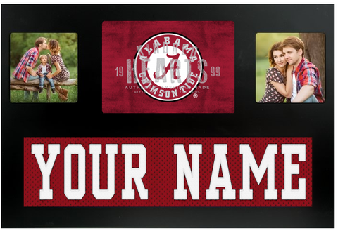 Alabama Crimson Tide NCAA Jersey Nameplate Custom Picture Frame
