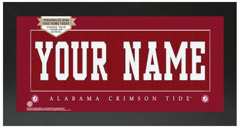 Alabama Crimson Tide NCAA Jersey Nameplate Custom Framed Sign