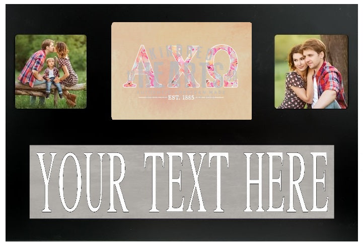 Alpha Chi Omega Letters Custom Picture Frame