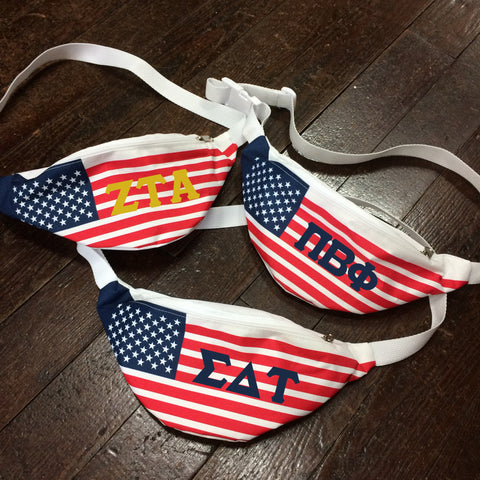 Sorority American Flag Fanny Pack