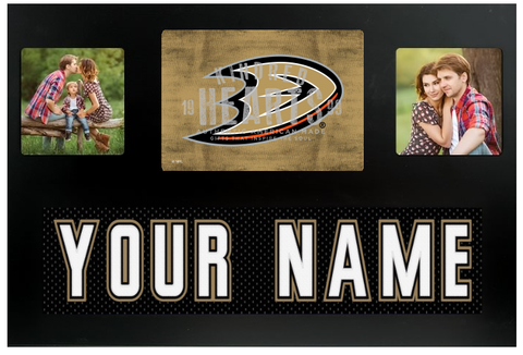 Anaheim Ducks NHL Jersey Nameplate Custom Picture Frame