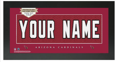 Arizona Cardinals NFL Jersey Nameplate Custom Framed Sign