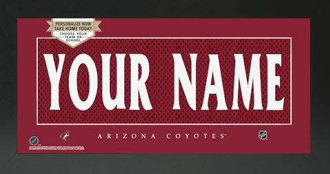 Arizona Coyotes Jersey NHL Nameplate Custom Framed Sign