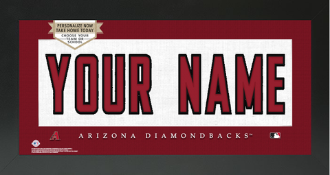 Arizona Diamondbacks MLB Jersey Nameplate Custom Framed Sign