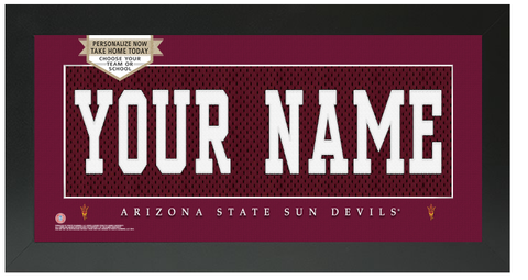 Arizona State Sun Devils NCAA Jersey Nameplate Custom Framed Sign