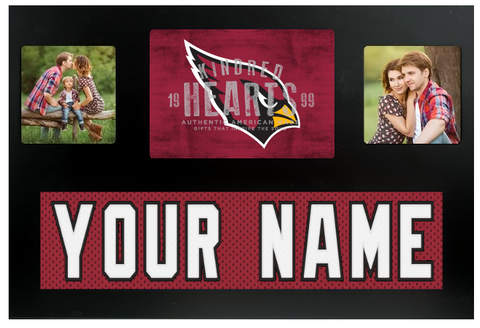 Arizona Cardinals NFL Jersey Nameplate Custom Picture Frame