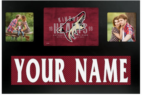 Arizona Coyotes NHL Jersey Nameplate Custom Picture Frame