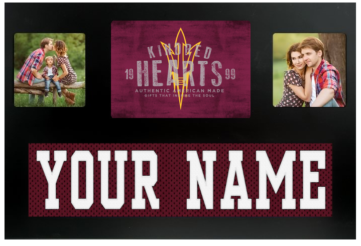 Arizona State Sun Devils NCAA Jersey Nameplate Custom Picture Frame