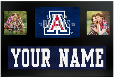 Arizona Wildcats NCAA Jersey Nameplate Custom Picture Frame