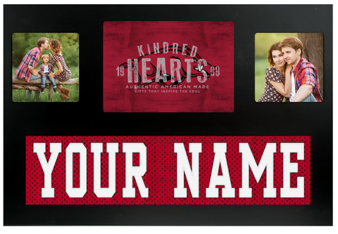 Arkansas Razorbacks NCAA Jersey Nameplate Custom Picture Frame