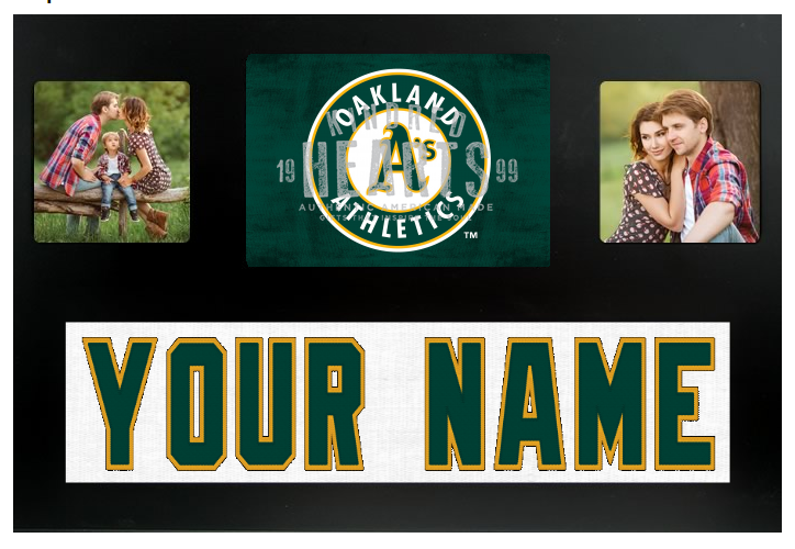 Oakland Athletics MLB Jersey Nameplate Custom Picture Frame