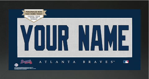Atlanta Braves MLB Jersey Nameplate Custom Framed Sign