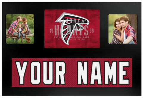 Atlanta Falcons NFL Jersey Nameplate Custom Picture Frame