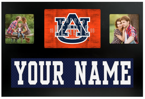 Auburn Tigers NCAA Jersey Nameplate Custom Picture Frame