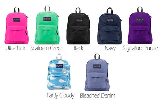 Monogrammed Jansport Backpack