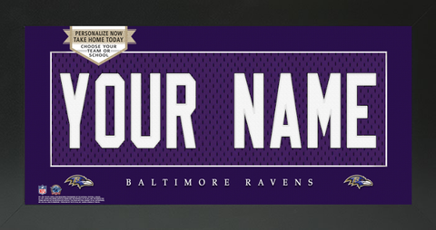 Baltimore Ravens NFL Jersey Nameplate Custom Framed Sign