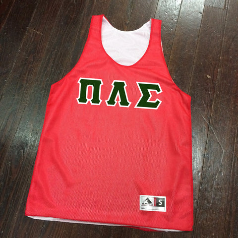 Sewn-Letter Reversible Basketball Pinnie