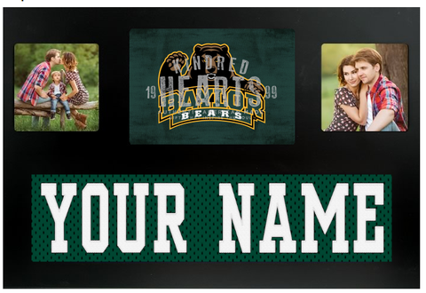 Baylor Bears NCAA Jersey Nameplate Custom Picture Frame