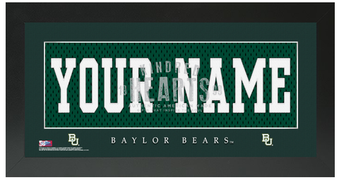 Baylor Bears NCAA Jersey Nameplate Custom Framed Sign